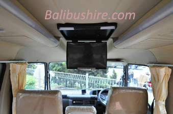bali bus hire Isuzu elf 12 seats interior