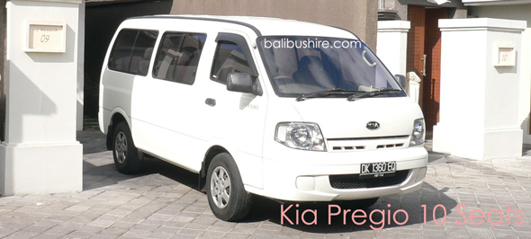 mini bus kia pregio 10 seats hire bali