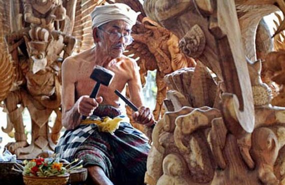 Mas Village Center Wood Carving