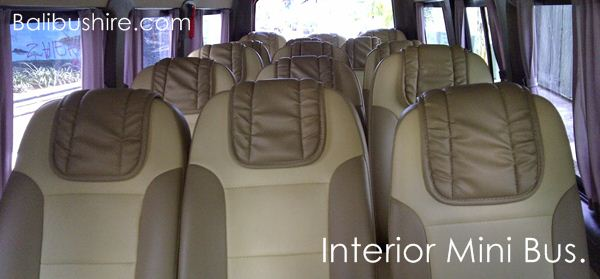 Interior Mini bus 17 seats