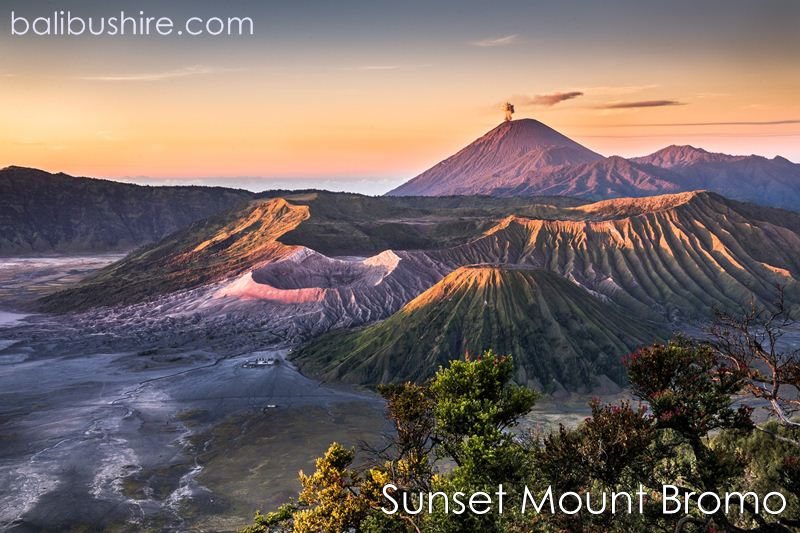 Sunset at Mount Bromo East of Java