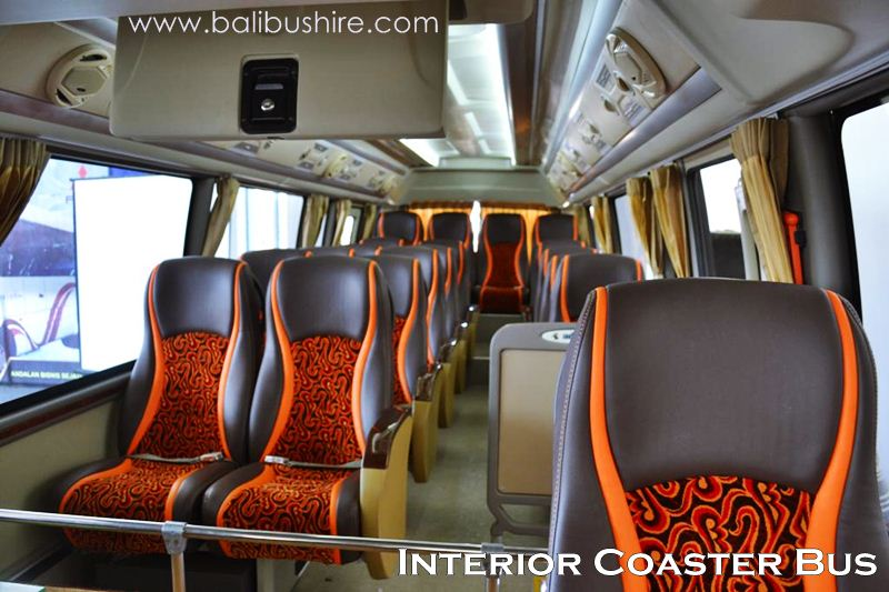 Interior Coaster Bus 22 Seats Bali